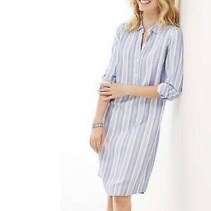 J.Jill yarn-dyed striped pullover shirtdress
